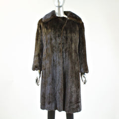 Ranch Mink Fur Coat - Size S - Pre-Owned