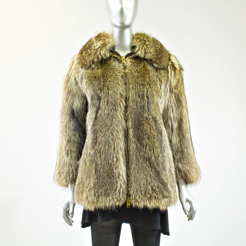 Raccoon Fur Jacket - Size S - Pre-Owned