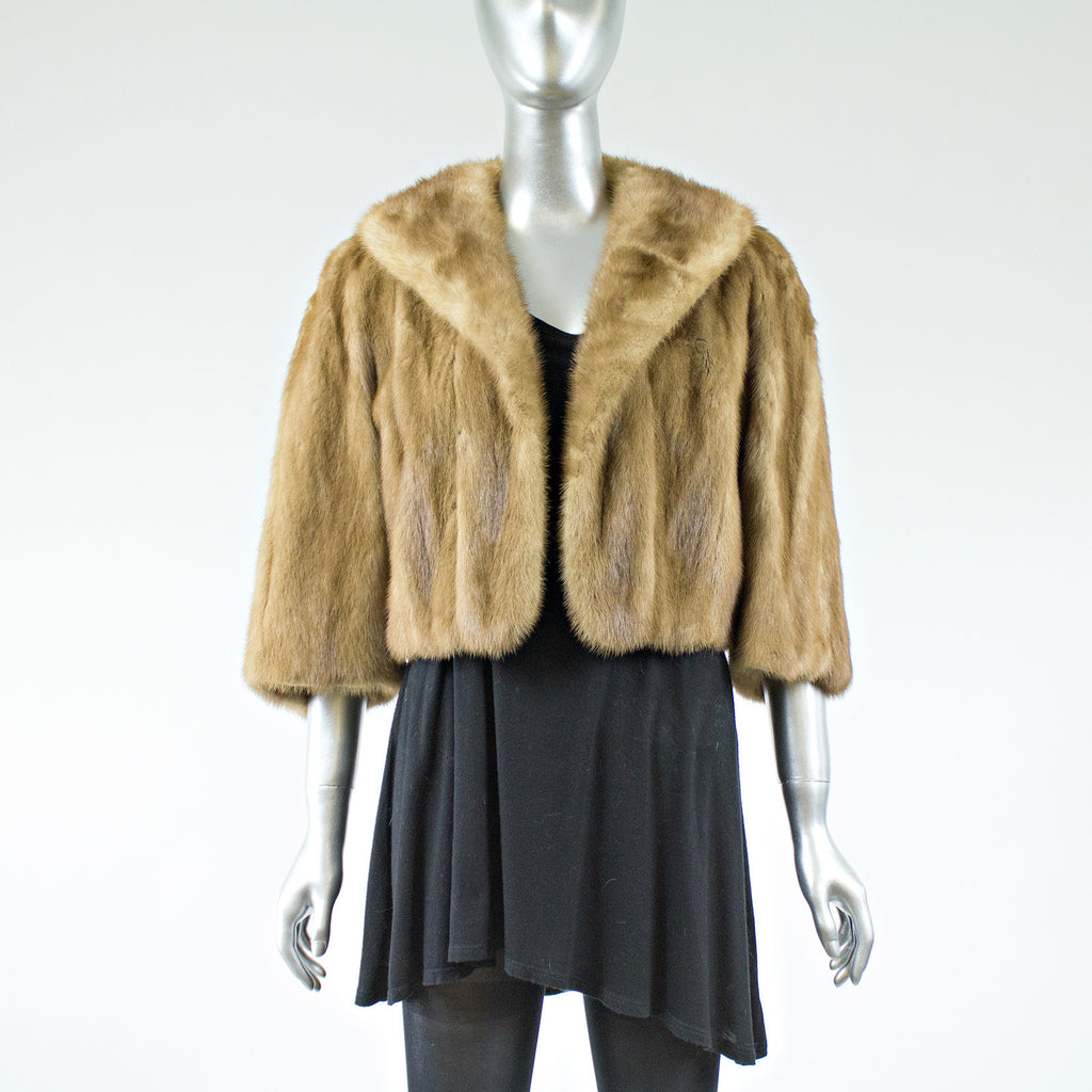 Autumn Hare Mink Fur Short Jacket - Size S - Pre-Owned