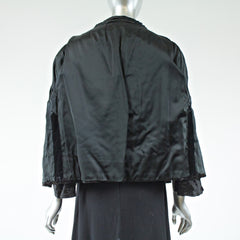 Black Persian Lamb Fur Jacket  - Size S - Pre-Owned