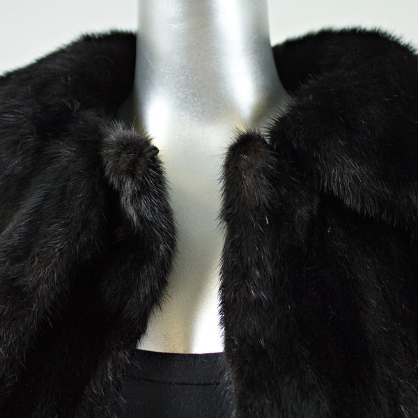 Ranch Mink Fur Coat - Size S