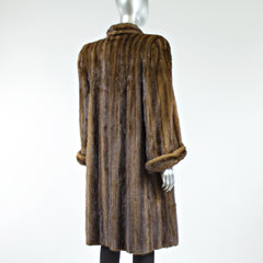 Demi Buff Mink Fur Coat - Size S/M