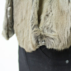 Silver Squirrel Fur Stole - One Size Fits All