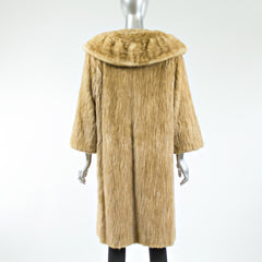 Autumn Haze Mink Fur Sections Coat - Size S
