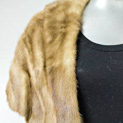 Autumn Haze Mink Fur Stole - One Size Fits All