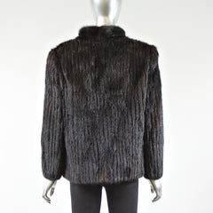 Ranch Saga Corded Mink Fur Jacket - Size S