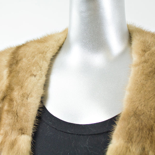 Luneraine Mink Fur Short Stole - One Size Fits All