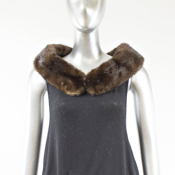 Collar Mahogany Mink Fur- One Size Fits All