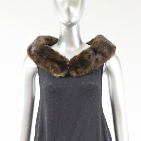 Mahogany Mink Fur Collar - One Size Fits All