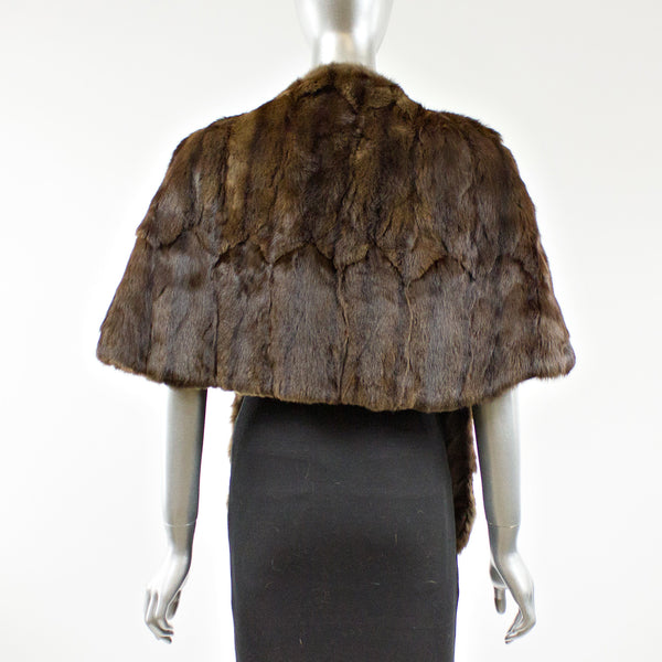 Brown Squirrel Fur Stole - One Size Fits All