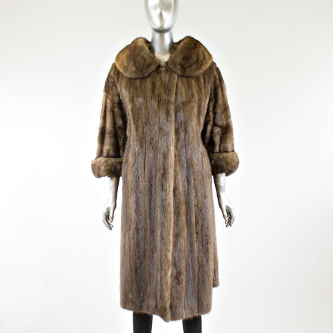 Autumn Haze Mink Fur Coat with TWO FREE HATS - Size S