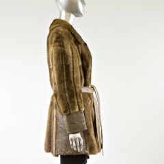 Lunaraine Mink Fur Jacket with a Belt - Size S