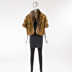 Demi Buff Mink Fur Stole with FREE Extra Skin Scarf - One Size Fits All