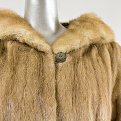 Autumn Haze Mink Fur Coat - Size S
