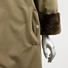 Brown Sheared Nutria Fur Reversible Coat - Size S 8
