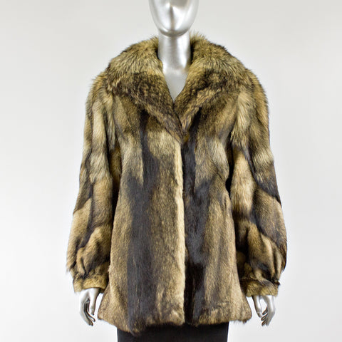 Raccoon Fur Jacket - Size S