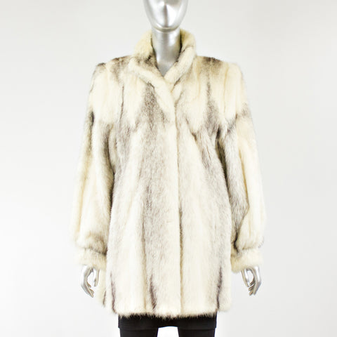 Cross Mink Fur Jacket - Size S