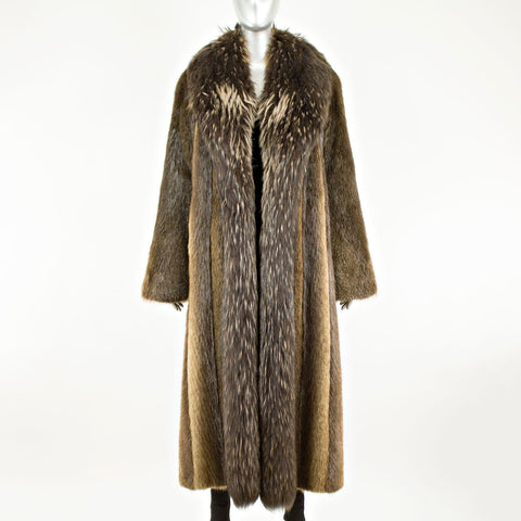 Beaver With Raccoon Tux Coat - Size XS-S