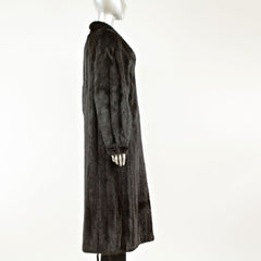 Black Mink Coat - Size M