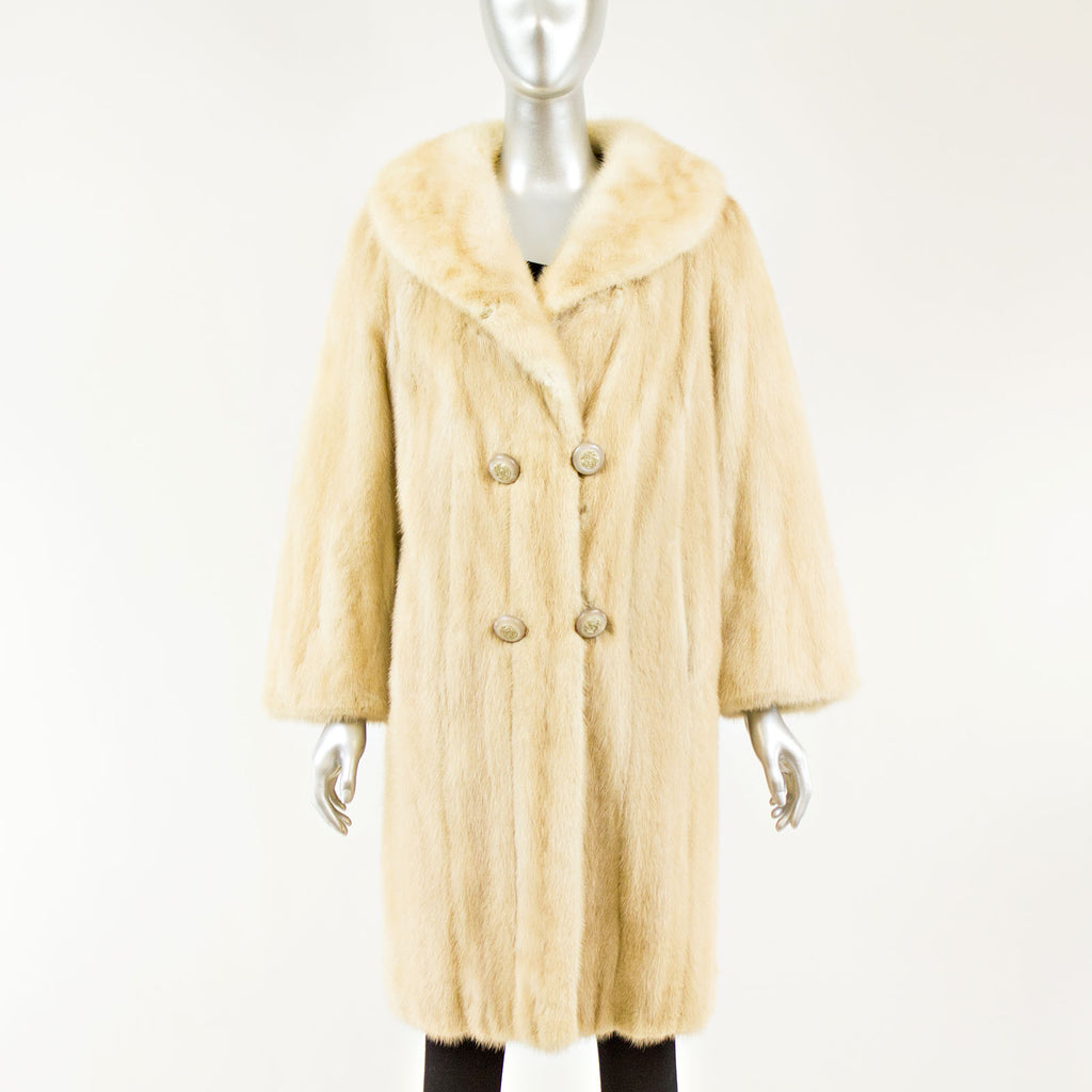 Blonde 7/8 Mink Coat - Size XS