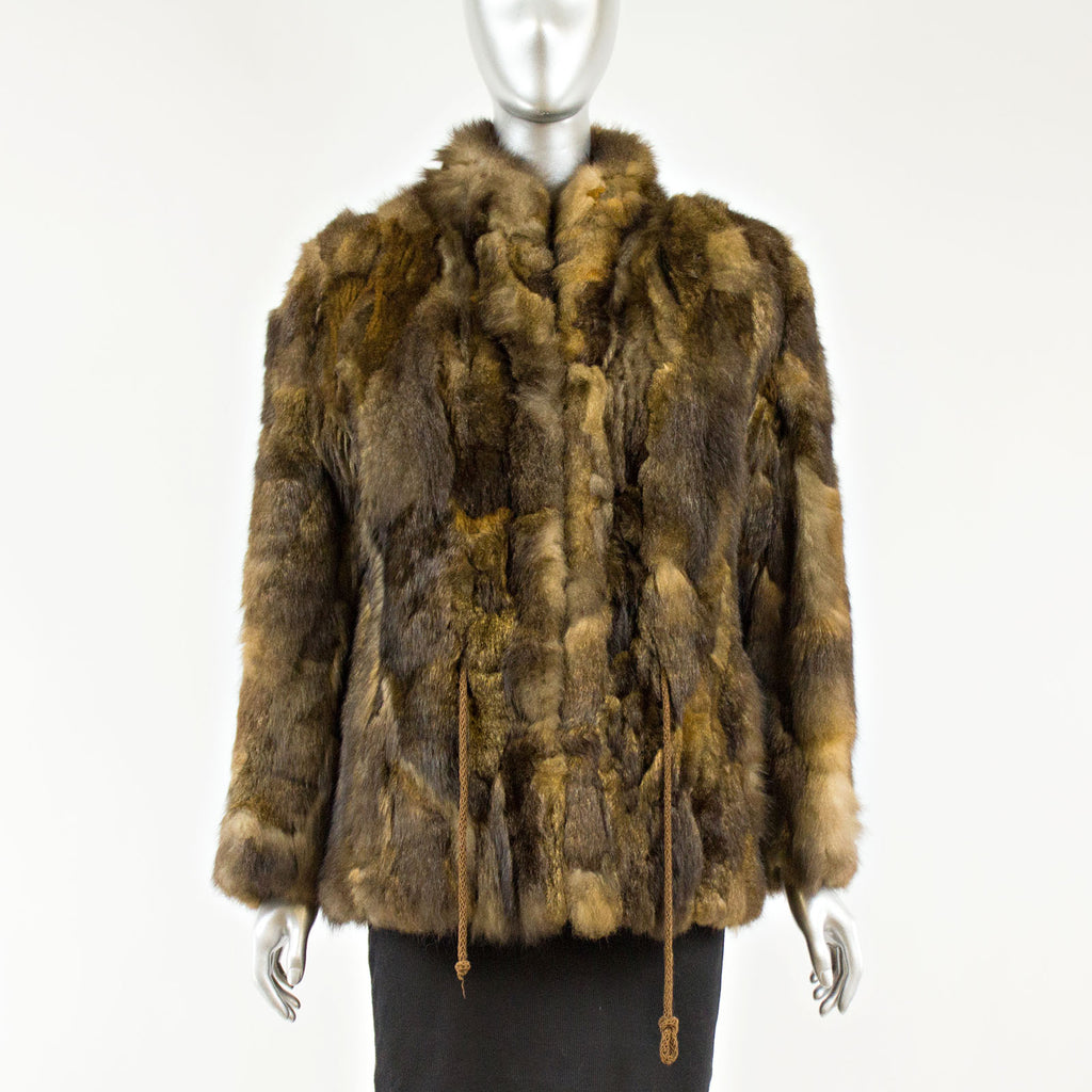 Brown Opossum Section Jacket - Size XS