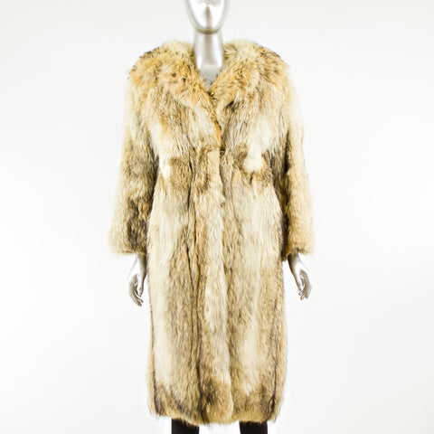 Coyote Fur Coat - Size XS