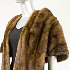 Dark Mahogany Mink Stole - One Size Fits All