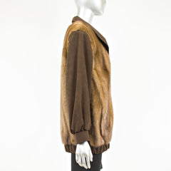 Demi-Buff Mink Jacket with Ultra suede - Size L-XL