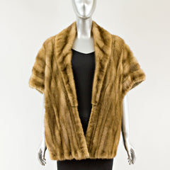 Demi Buff Mink Stole - One Size Fits All