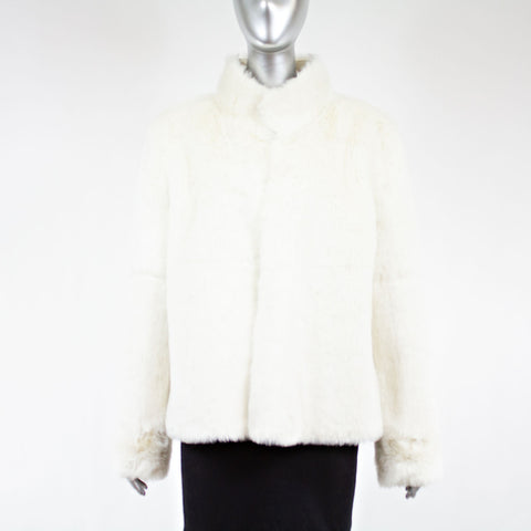 Faux Fur Rabbit Jacket Size S-M