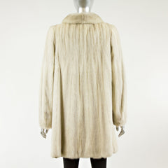 Light Grey Mink Fur Jacket - Size XS
