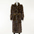 Mahogany Horizontal Mink Coat with Belt - Size M