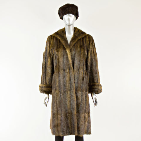 Muskrat Coat with FREE Hat - Size S
