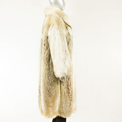 Full Length Coyote Coat - Size S/M