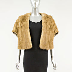 Pastel Mink Fur Stole - One Size Fits All