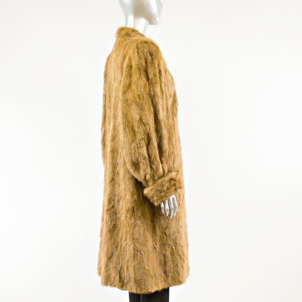 Whisky Section Mink Fur Coat - Size M