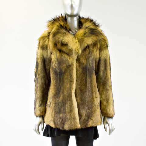 Toscana Raccoon Fur Jacket - Size S - Pre-Owned