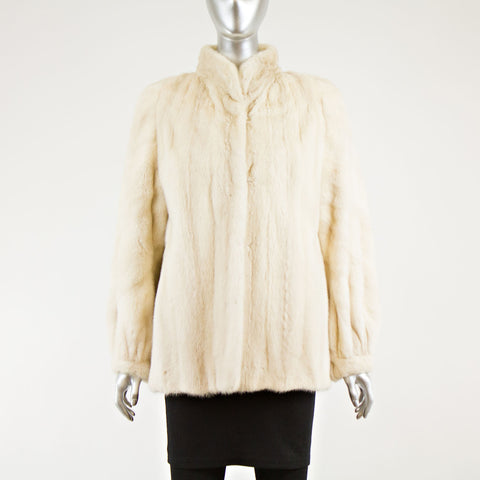 Cream Mink Jacket - Size S-M
