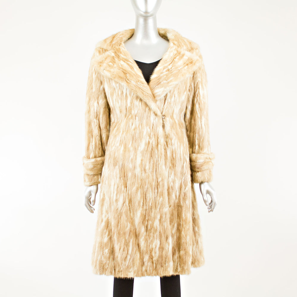 Autumn haze and tourmaline mink coat - Size S (Vintage Furs)