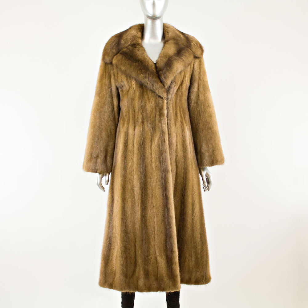 Autumn Haze Mink Coat with Sable Collar - Size S (Vintage Furs)