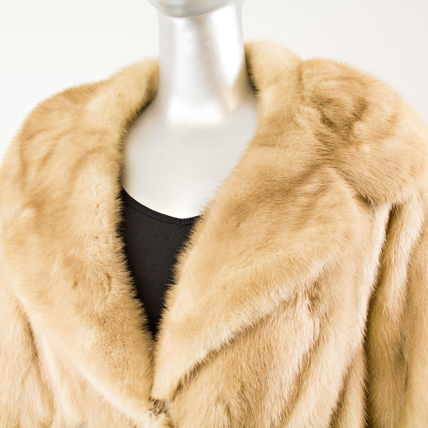 Autumn Haze Mink Jacket with Zip Off Bottom - Size L ( Vintage Furs)