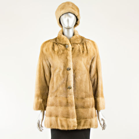Autumn haze mink jacket with matching hat - Size M (Vintage Furs)