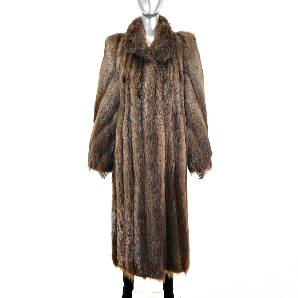Long Hair Beaver Coat- Size S-M (Vintage Furs)