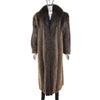 Beaver Coat with Fox Tuxedo- Size XL