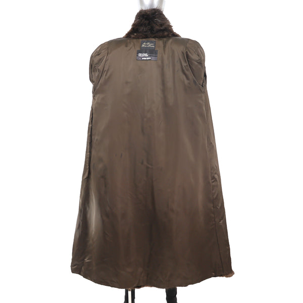 Long Hair Beaver Coat- Size L