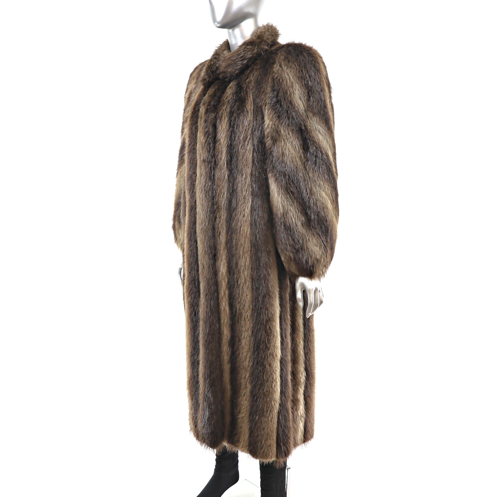 Full Length Beaver Coat- Size M