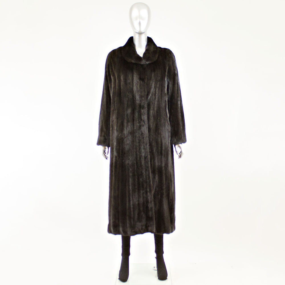 Blackglama Female Ranch Mink Coat - Size L ( Vintage Furs)