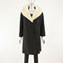 Black Persian Lamb 3/4 Coat with Mink and Two Hats- Size L-XL (Vintage Furs)