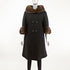 Black Wool Coat with Mink Collar and Cuffs- Size M (Vintage Furs)