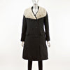 Black Wool Coat with Sapphire Mink Collar- Size S (Vintage Furs)